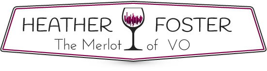 Heather Foster The Merlot of VO Branding Logo
